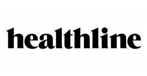 healthline written in black on a white background